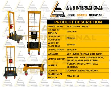 ACB LIFTING TROLLEY FOR ACB RATINGS UPTO 4000A