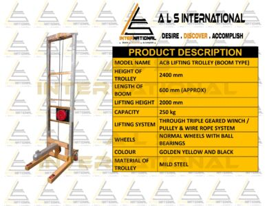 BOOM TROLLEY FOR 2000mm LIFTING HEIGHT